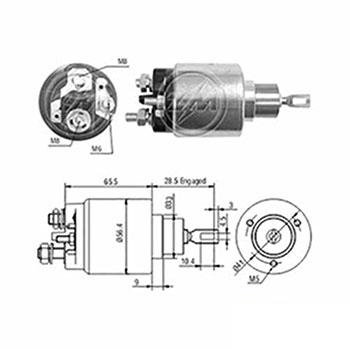 Automático Motor de Partida 12v  - ZM - PEÇA  - Cod. SKU: ZM