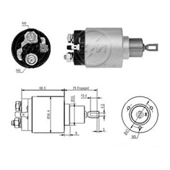 Automático Motor Partida SENTRA 1.6 16V 19961998 (ZM3777) -