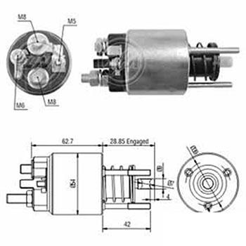 Automático Motor de Partida BMW OMEGA 2.4 - Sistema MAGNETI