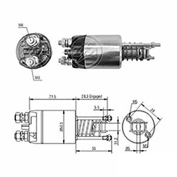 Automático Motor de Partida 12v () - ZM - PEÇA - SKU: ZM4651