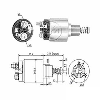 Automático Motor de Partida 12v ZM576