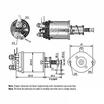 Automático Motor de Partida 12v () - ZM - PEÇA - SKU: ZM614