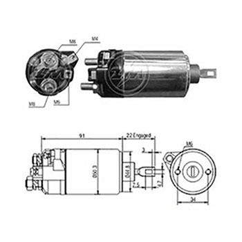 Automático Motor de Partida 12v ZM625