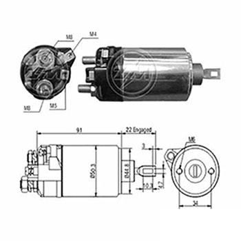 Automático Motor de Partida 12v ZM628