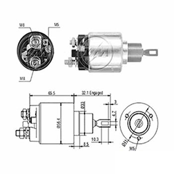 Automático Motor de Partida 12v ZM672