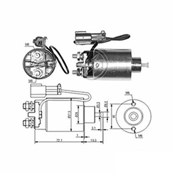 Automático Motor de Partida 12v () - ZM - PEÇA - SKU: ZM793