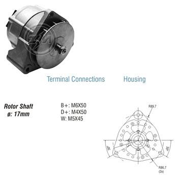 Alternador AGRALE MBB CASE CBT - 35Ah 12v ZM9010103