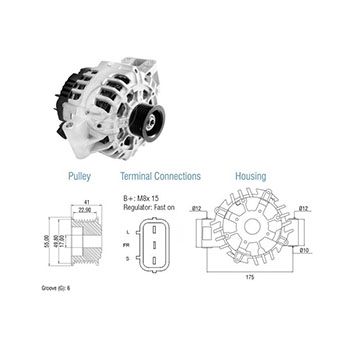 Alternador FORD - 90Ah 12v ZM9020303