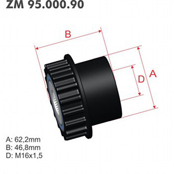 Polia Alternador Decoupler LAND ROVER VOLVO ZM9500090