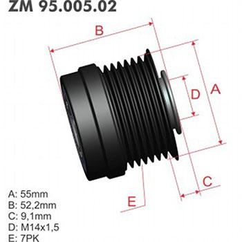 Polia Alternador Decoupler TOYOTA ZM9500502