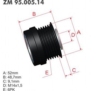 Polia Alternador Decoupler DODGE JEEP ZM9500514