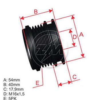 Polia Alternador Roda Livre VOLVO S40 S60 S80 V50 V60 V70 XC