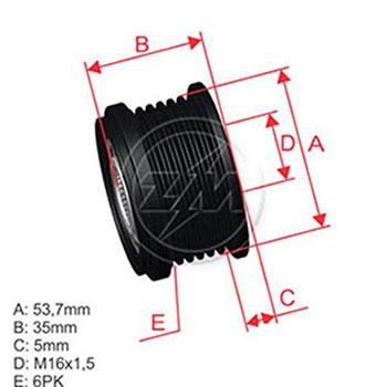 Polia Alternador Roda Livre VOLVO S80 V70