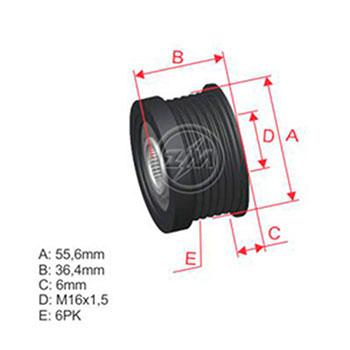 Polia Alternador Roda Livre VOLVO C70 S40 S60 S70 S80 V40 V7