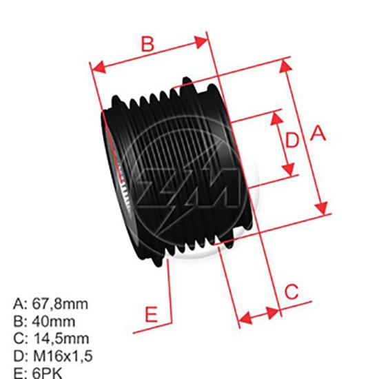 Polia Alternador Roda Livre VOLVO S60 S70 S80 V70 XC70