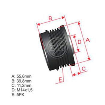 Polia Alternador Roda Livre FOCUS VOLVO C70 S40 V50
